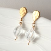 Glass and Pearl Earrings