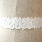 White Leaf Sash