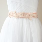 Blush Bridal Sash