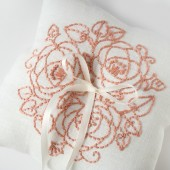 Coral Flower Ring Pillow