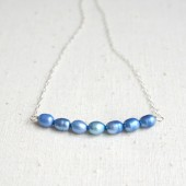 Blue Pearl Necklace