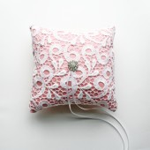 Pink Toulon Ring Pillow