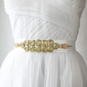 Gold Circles Sash