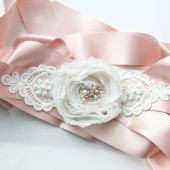 Rustic Pink Wedding Sash