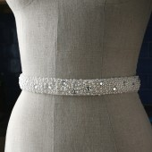 Beaded Bridal Sash