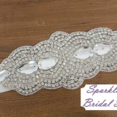 Abbey Bridal Sash - SparkleSM Bridal Sashes