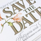 Adriana Vintage Flourish Watercolor Save The Date
