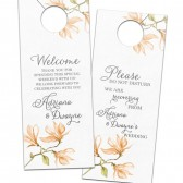 Watercolor floral door hangers