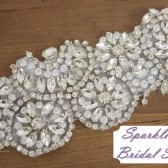 Ainsley Bridal Sash - SparkleSM Bridal Sashes