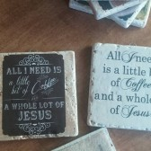 Religious Quote Coasters or wall hangings