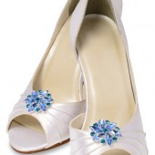 Amanda Blue Shoe Clips
