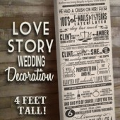 Four Foot Love Story Typography Canvas