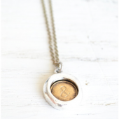 Ampersand Seal Necklace