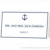 Place Card Template - Anchor Design