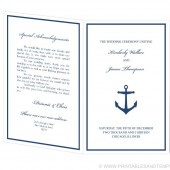Wedding Program Template - Anchor Design