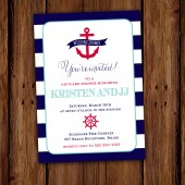 Anchors Away Nautical Invitation
