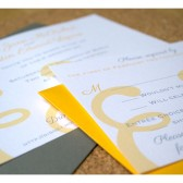 AND Design Simple Wedding Invitation