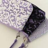 Angela Wristlets - Lavender Linen, all laces