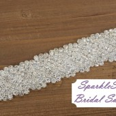 Angelina Bridal Sash - SparkleSM Bridal Sashes