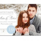 Anita – Classic Banner Photo Wedding Save The Date