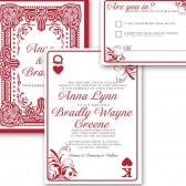 Playing card casino wedding invitations for Las Vegas wedding – Anna