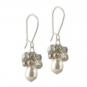 'Anne' Pearl Cluster Earrings