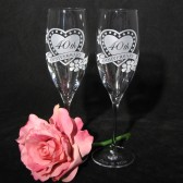 Anniversary Gift Set - Champagne Flutes, Personalized