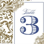 Ornate Vintage Baroque Wedding Table Number
