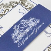 Elegant baroque wedding invitations – April Collection