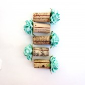 On Sale - Aqua Single Cork Place Card Holders