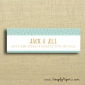 Teal and Tangerine Chevron Address Labels