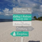 Welcome Beach Wedding Sign