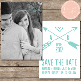 Rustic Arrow Save the Date