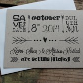 Rustic Kraft Arrow Save the Date Invitation