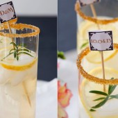 Art Deco drink stirrers, personalized and custom