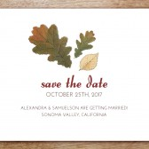 Autumn Leaves Printable Save The Date