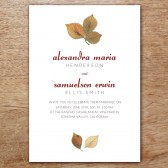 Autumn Leaves Printable Wedding Invitation