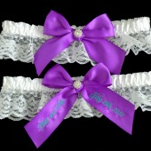 Purple Wedding Garter Set