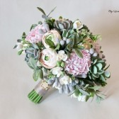 succulent bouquet, boho bouquet, green bouquet, keepsake bouquet, alternative bouquet, peony bouquet, green pink bouquet, clay flowers bouquet