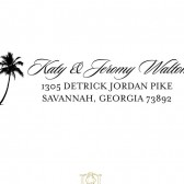 Palm Tree Beach Destination Wedding Stamp – BD002