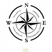 Nautical Compass Binnacle Address Stamp – BD004