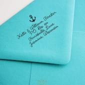 Anchor Calligraphy Wedding Address Rubber Stamp – BD005