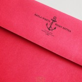 Anchor Bride & Groom Nautical Wedding Address Stamp – BD006