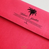 Tropical Palm Tree Destination Wedding Address Stamp – BD007