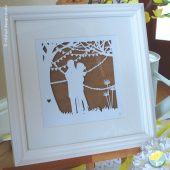 bespoke framed paper cut artwork, unique, keepsake, gift, engagement, wedding, anniversary, paper, personalised, exquisite