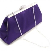 Blackberry and Silver Bridal Clutch