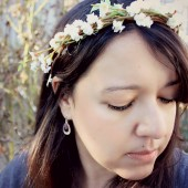 Ivory Blossom Flower Crown