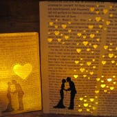 Book Wedding Luminary Centerpiece