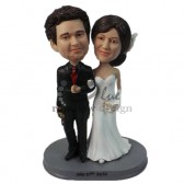 Gorgeous Wedding Couple Custom Bobblehead