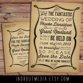 Broadside Typography Save the Date
